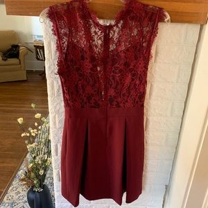BCBG Red Lace Dress